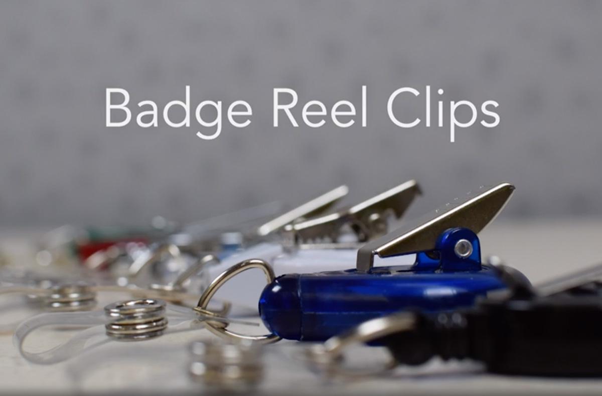 Retractable Badge Reel Clip Options