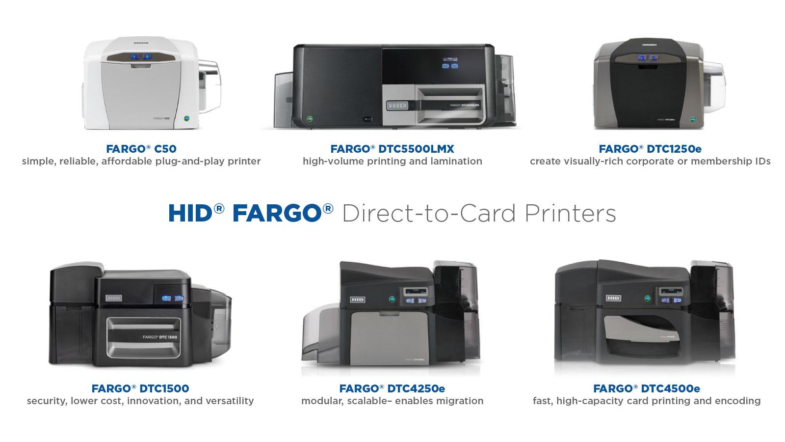 Fargo ID Card DTC Printers