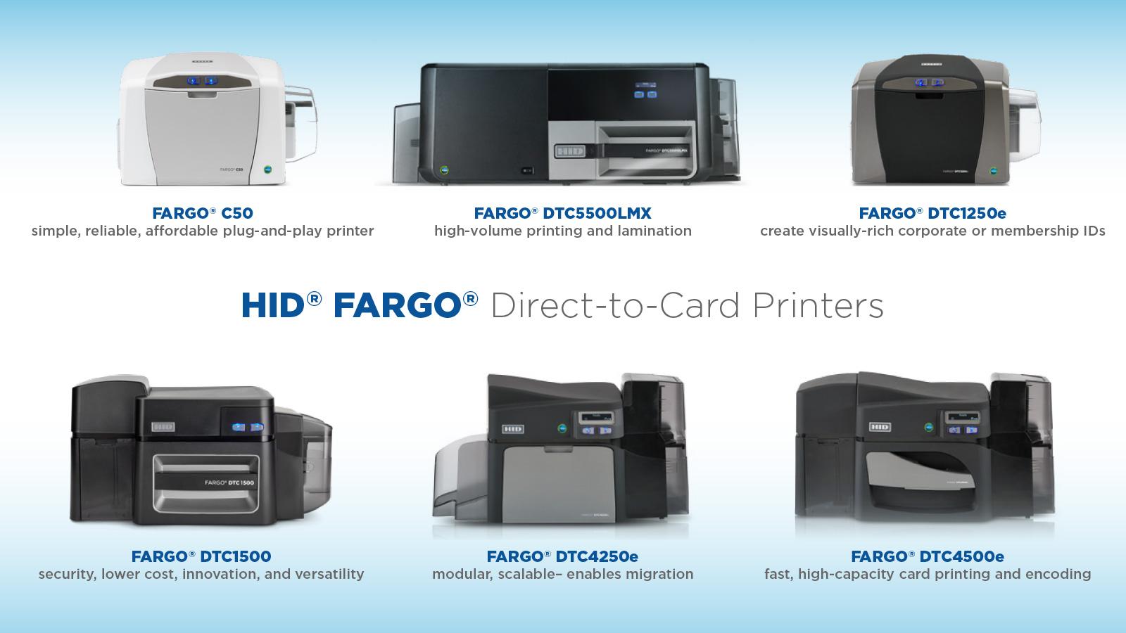 Fargo ID Card Printers DTC Series