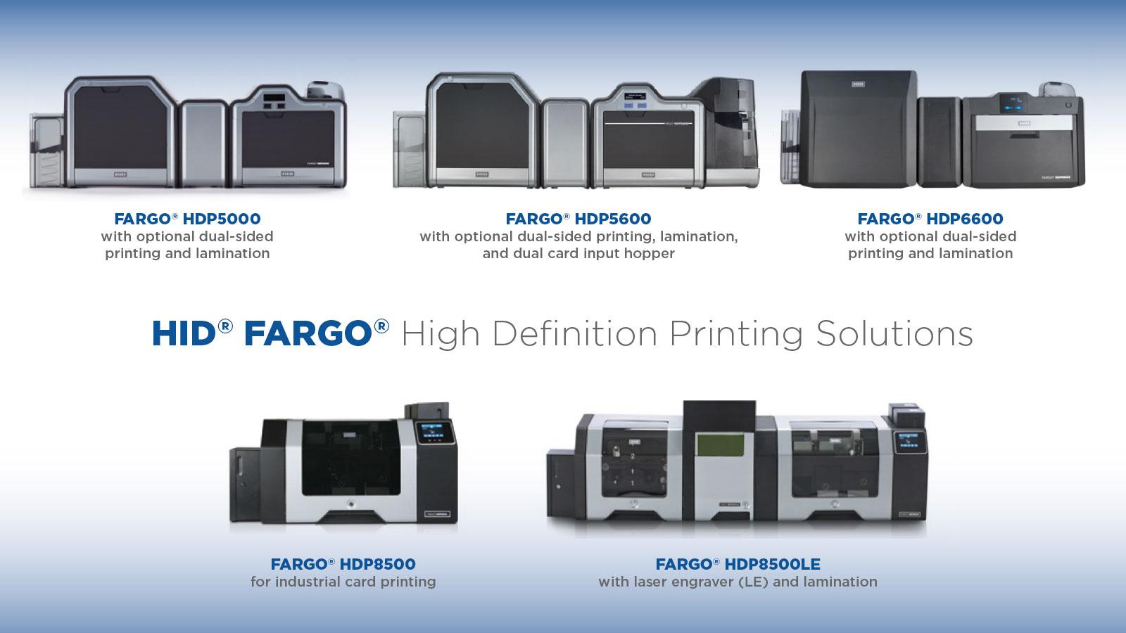 Fargo ID Card Printers HDP Series